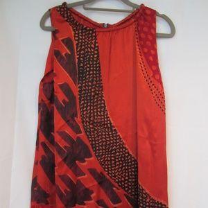 """CAbi Red Hot Tunic Medium Spring Shirt #154 40"""""""